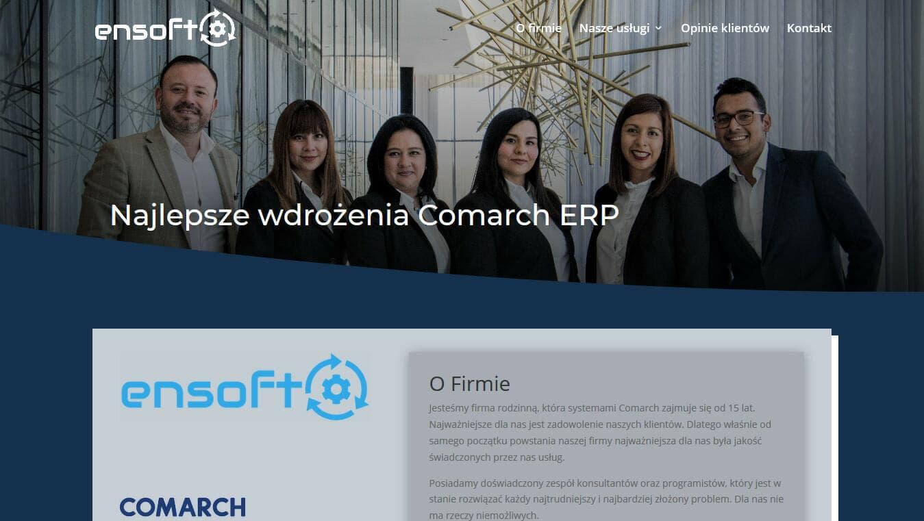 Strona firmy Ensoft projekt Divi