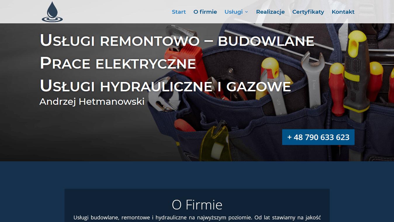 hydraulikmazowieckie.pl projekt Divi