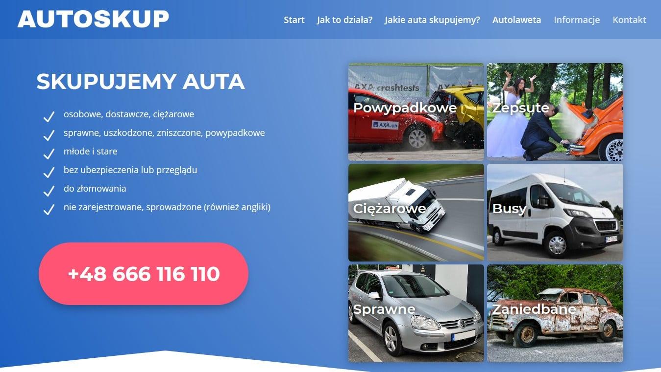 Auto skup projekt Divi