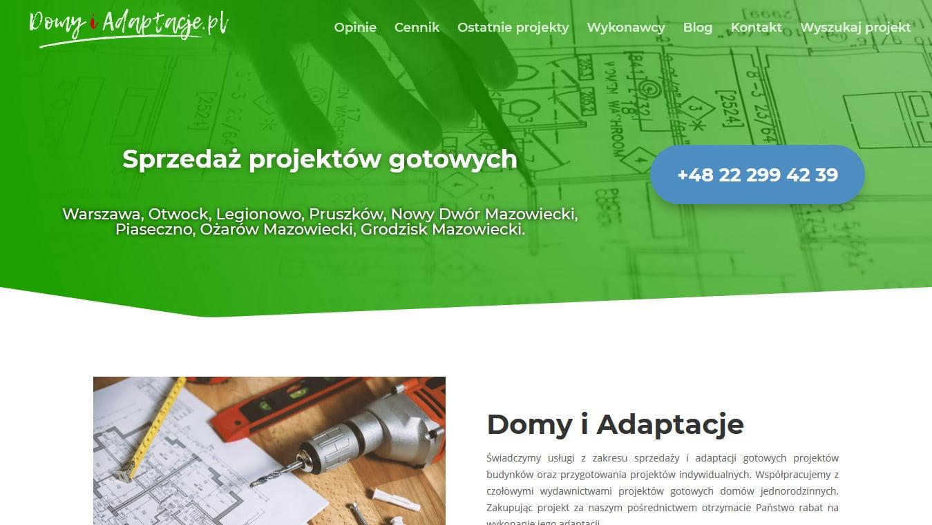 Domy i adaptacje projekt Divi