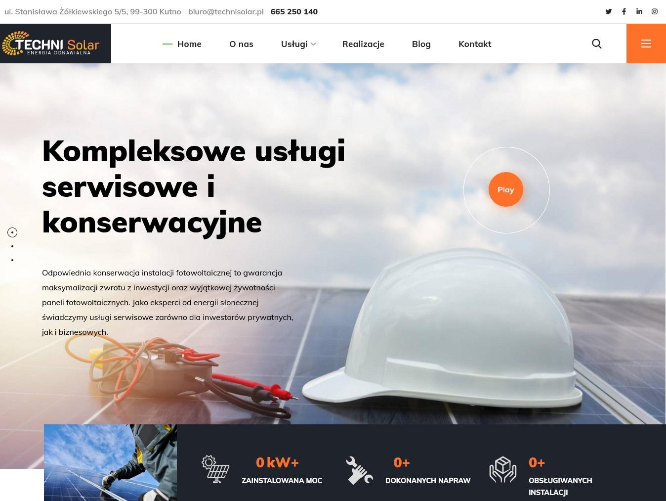 technisolar projekt strony
